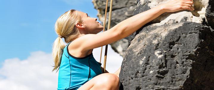 rock faces for climbing